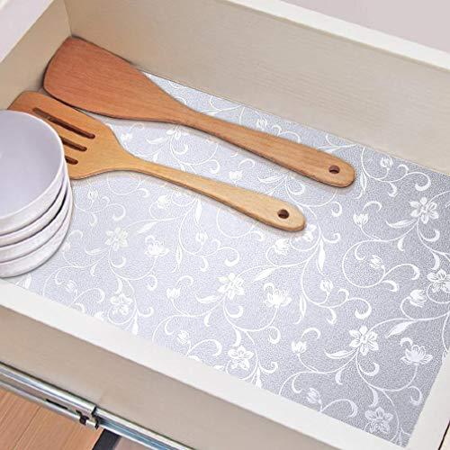 KINLO 61 x 500 CM Silber Küchenfliesen Aufkleber wasserdichte ölbeständige Aluminiumfolie Boden Arbeitsplatte Wand Küchenschrank Herd Selbstklebetapete Hohe Temperaturbeständigkeit Zinnfolie.