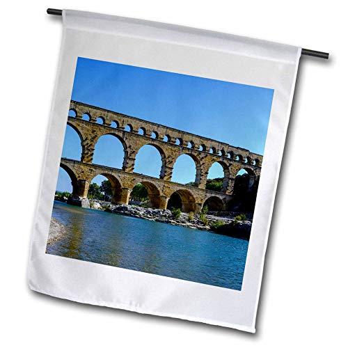 Nimes Garden - 3dRose Danita Delimont - France - France, Nimes, Pont du Gard, Aqueduct - 18 x 27 inch Garden Flag (fl_313117_2)