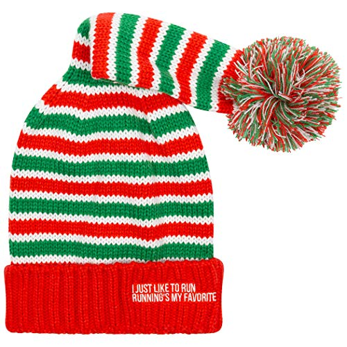Gone For a Run Running Elf Pom Pom Beanie Hat | Running Hats ()