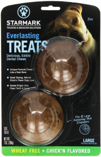 Everlasting Treat for Dogs, wheat free Chicken, Large, 2
