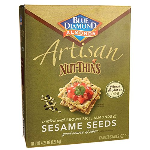 Blue Diamond Almond Artisan Nut-Thins Sesame Seeds, 4.25 Ounce