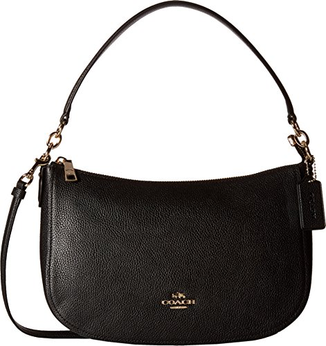 COACH Women's Pebble Chelsea Crossbody LI/Black Cross Body by Coach
