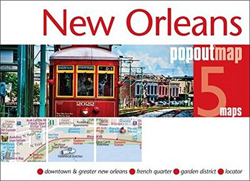 New Orleans PopOut Map, 5 maps (Popout Maps)