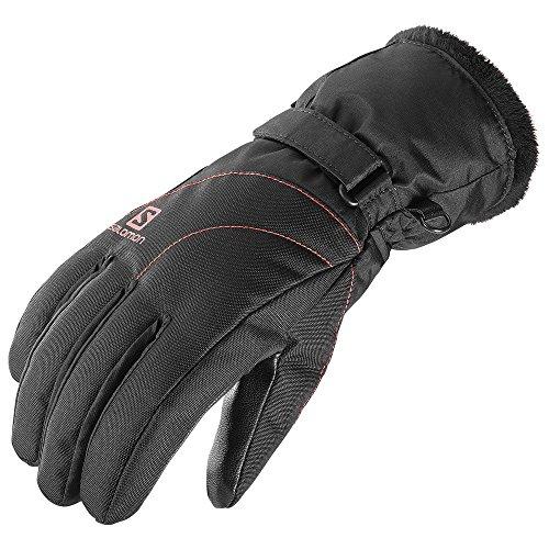 Salomon Women's Force GTX Gloves, Black/Infrared, Medium (Salomon Ski Gloves)