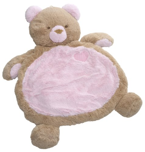 Loveable Baby Bear - Mary Meyer Bestever Baby Mat, Pink Bear