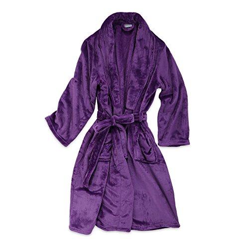 Berkshire Blanket VelvetLoft Plush Luxury Spa Lounge Robe, Large/Extra-Large, Imperial Purple