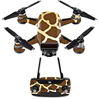 Skin for DJI Spark Mini Drone Combo - Giraffe| MightySkins Protective, Durable, and Unique Vinyl Decal wrap cover | Easy To Apply, Remove, and Change Styles | Made in the USA