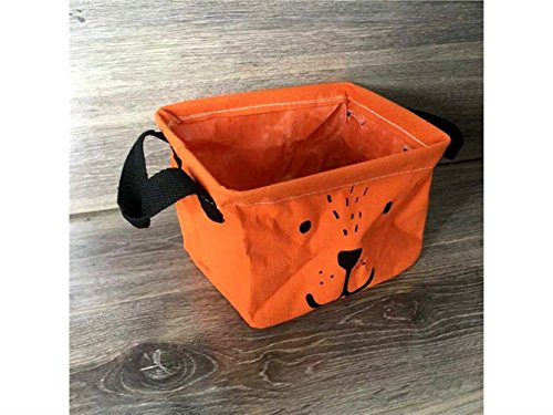 Gelaiken Lightweight Puppy Square Storage Box Desk Storage Box Holder Jewelry Stationery Cosmetic Case Sundries Storage Box(Orange) by Gelaiken