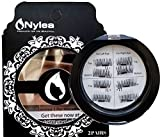 magnetic Nylea 8x Magnetic Eyelashes [No Glue] Premium Magnet Quality False Eyelashes Set for Natural Look - Best Fake Lashes Extensions One Two Cosmetics 3D Reusable