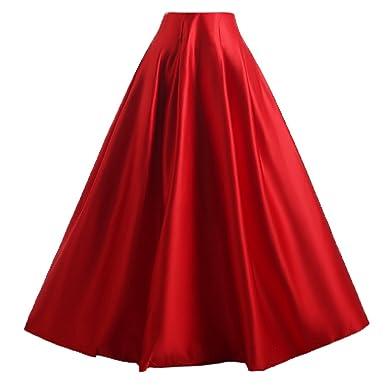 info pour e8042 2d3f4 Mariage Lady femmes de jupe longue évasée en satin Taille Haute