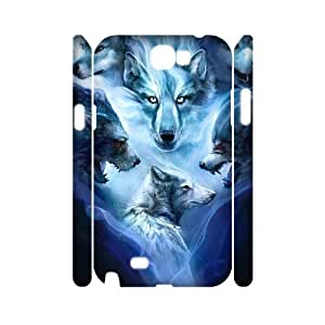 case Of Wolf Howling Customized Hard Case For Samsung Galaxy Note 2 N7100