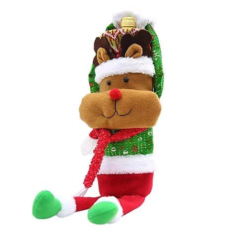 Fuxitoggo Decoración navideña, Adornos Hechos a Mano, café, Set de Vino, Cubierta