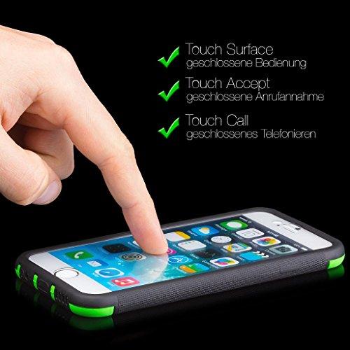 Apple iPhone 6S / 6 | iCues despejan el caso de TPU amarillo | luz extra lámina transparente muy fina protector exterior gruesa dura de la caja a prueba de golpes 360 grados Pantalla de cuerpo complet Outdoor Rojo