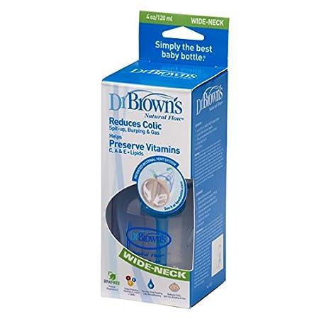120 ml Biber/ón Antic/ólico sin BPA Browns DRB-PP-455DE Completo Dr