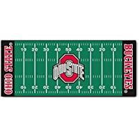 Ohio State University Football Field Runner 30x72 Fan Mats Area Rug
