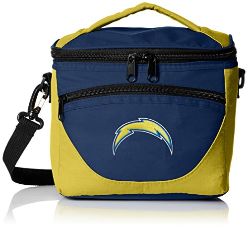 Logo Brands NFL San Diego Chargers Halftime Lunch Cooler, One Size, Black (San Box Lunch Chargers Diego)