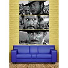 THE GOOD THE BAD AND THE UGLY CLINT EASTWOOD 3 GIANT POSTERS PRINTS XXXL NC6010