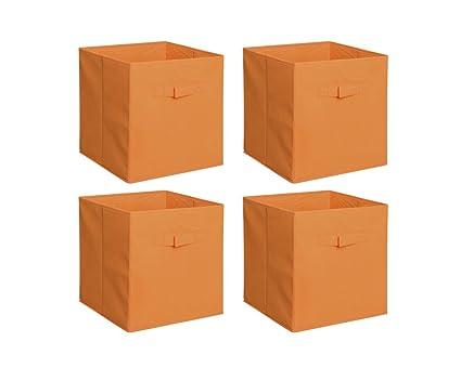 Attirant New Home Storage Bins Organizer Fabric Cube Boxes Shelf Basket Drawer  Container Unit (4,