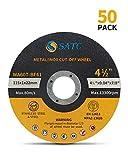 "Cutting Wheel 50 PCS Cut Off Wheel 4.5""x.040""x7/8"" Cutting Disc Ultra Thin Metal & Stainless Steel SATC: more info"