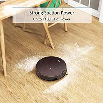 Tesvor Robotic Vacuum, Wi-Fi Connected Robot Vacuum Cleaner with 1400 Pa High Suction, App Control, Mapping, 110mins Battery Life,Good for Hard Floors and Low-Pile Carpets
