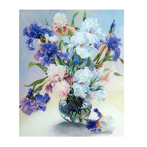 FORESTIME 5D Diamond Embroidery DIY Flower Pot Craft Painting Cross Stitch Mosaic Home Decor (blue, 30×30 -