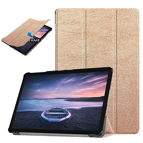 Price comparison product image Magent PU Leather Case Samsung Galaxy Tab S4 10.5'' - Samsung T830 T835 SM-T830 SM-T835 Tablet Case Cover (Rose Gold)
