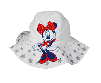 Amazon.com  Disney Minnie Mouse Toddler Girls Bucket Hat White  Baby 04f438118973