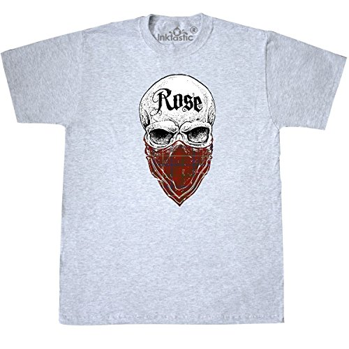 Inktastic - Rose Tartan Bandit T-Shirt Small Ash (Rose Ash Grey T-shirt)