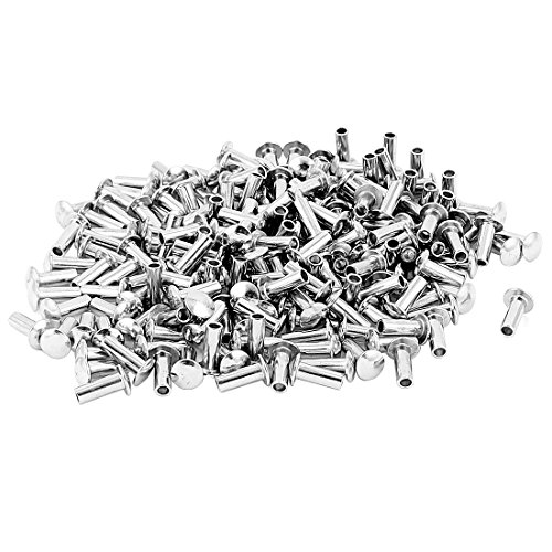 100 Pcs 1//8 x 25//64 Round Head Copper Solid Rivets Fasteners uxcell a15091700ux0429