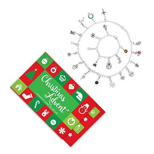 Advent Calendar 22 Charm Bracelet and Necklace Set