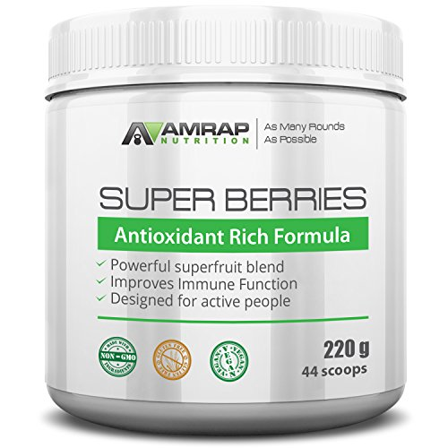 AMRAP Nutrition – Super Berries – All Natural Organic Super Berry Juice Blend – Antioxidant Rich Formula – Supports Immune System – Reduces Oxidative Stress from Workouts