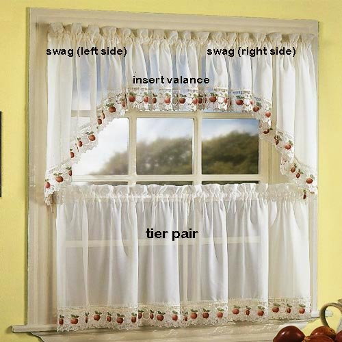 Apple Orchard Kitchen Curtain - Insert Valance
