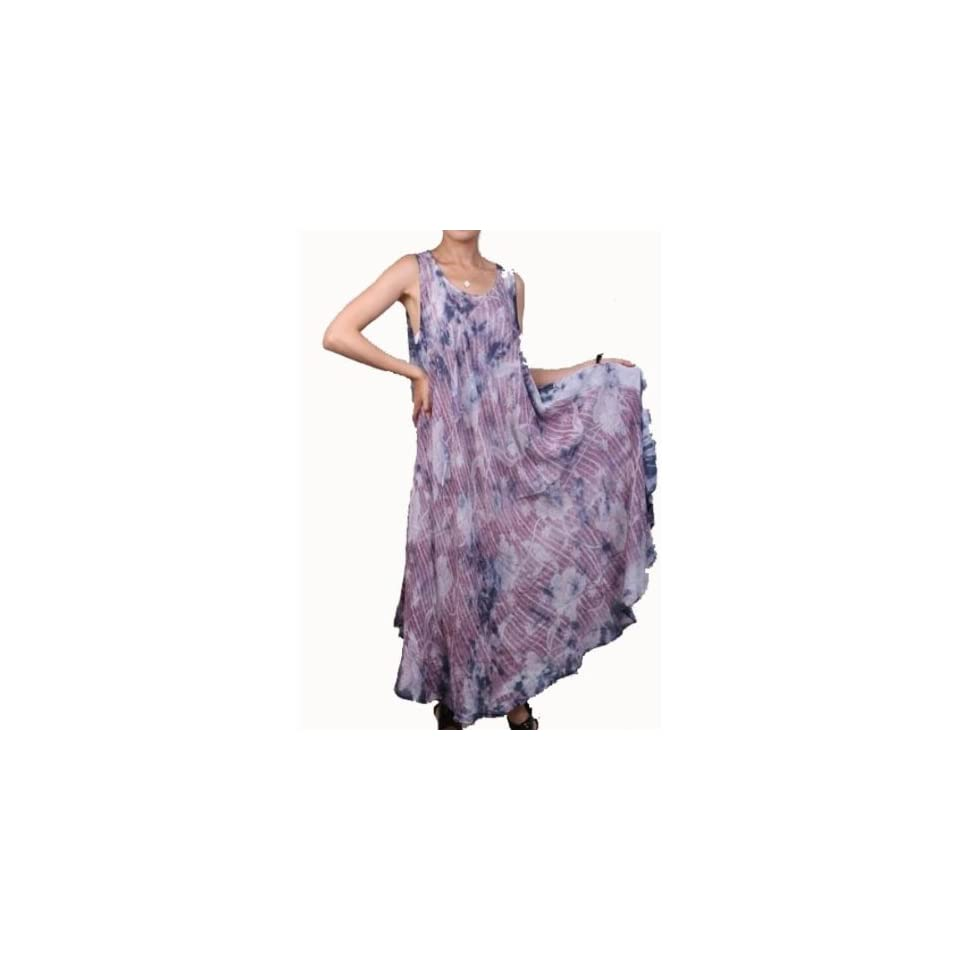 Womens Full Length Loose Fit Dress   Purple Case Pack 6