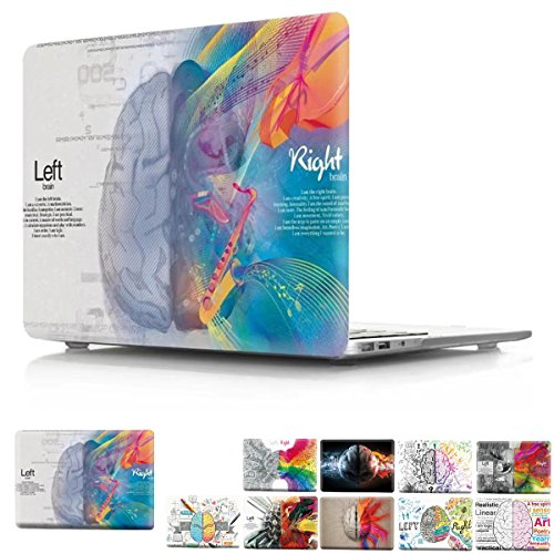 2016 & 2017 Release MacBook Pro 13 inch Case A1706/A1708, PaypHal MacBook Left and Right Brain Print Pattern Plastic Hard Case for 2016 MacBook Pro 13 inch with/without Model: A1706/A1708 - Brain 2