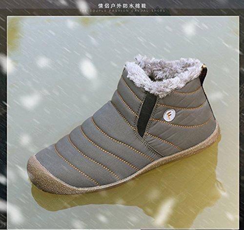 ... Gomnear Frauen Herren Snow Boots Wasserdicht Wandern Schuhe Leicht  Winter Anti-Rutsch Warm Sneaker Grau ... be4e860ebc