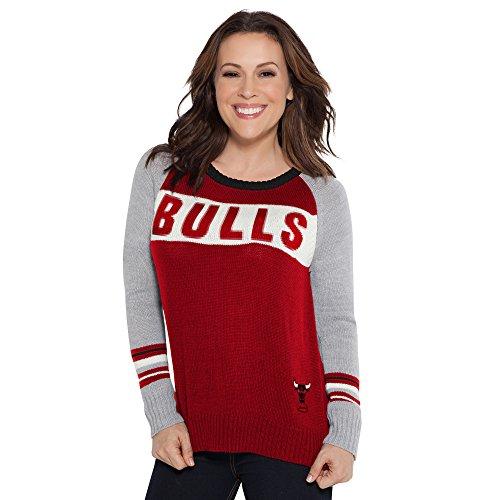 Touch by Alyssa Milano NBA Chicago Bulls Team Spirit Sweater, Medium, Red