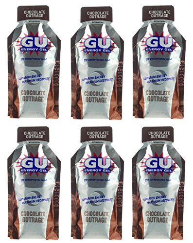 GU Energy Gel - Chocolate Outrage (6 x 1.1oz Packs)