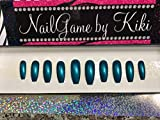 Just Teal Hand Designed Nail Set