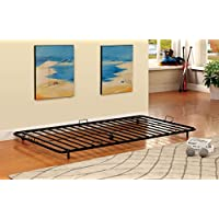 Furniture of America Newton Metal Twin Trundle, Black