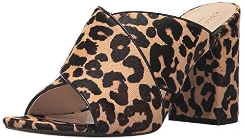 Cole Haan Women's Gabby Heeled Sandal, Ocelot Faux Hair Calf, 9 B US - Ocelot Faux Fur