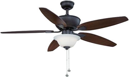 Hampton Bay Carrolton 52 in. Oil Rubbed Bronze LED Ceiling Fan