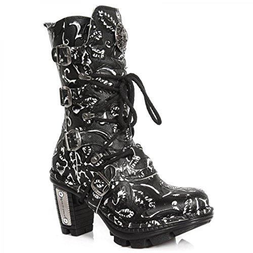 Nuovi Stivali Da Roccia M.neotr005-s35 Gotico Hardrock Punk Damen Stiefel Schwarz