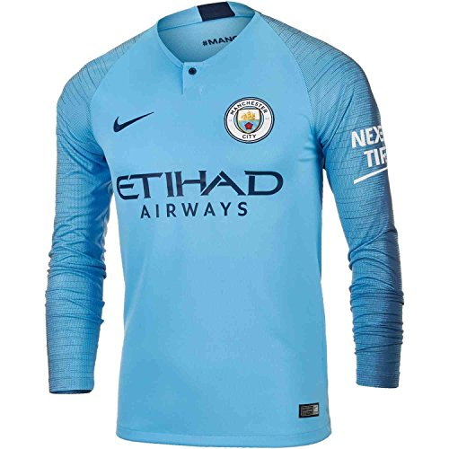 Nike Manchester City Home L/S Jersey 2018-19 - Nike Long Sleeve Jersey