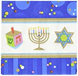 Joyous Menorah Celebration Beverage Napkins
