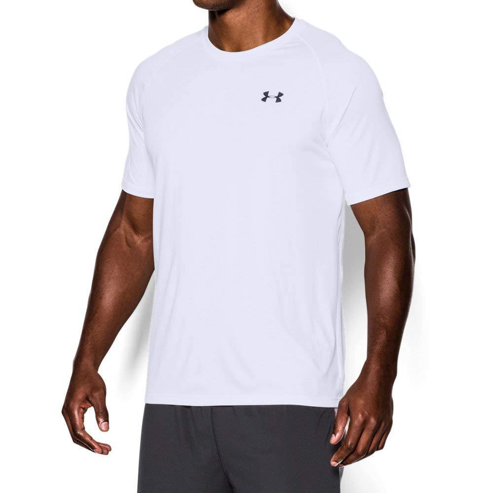 Under Armour Short Sleeve Tech T Shirt (White, Small)