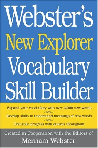 Webster's New Explorer Vocabulary Skill  - Websters New Explorer Dictionary Shopping Results