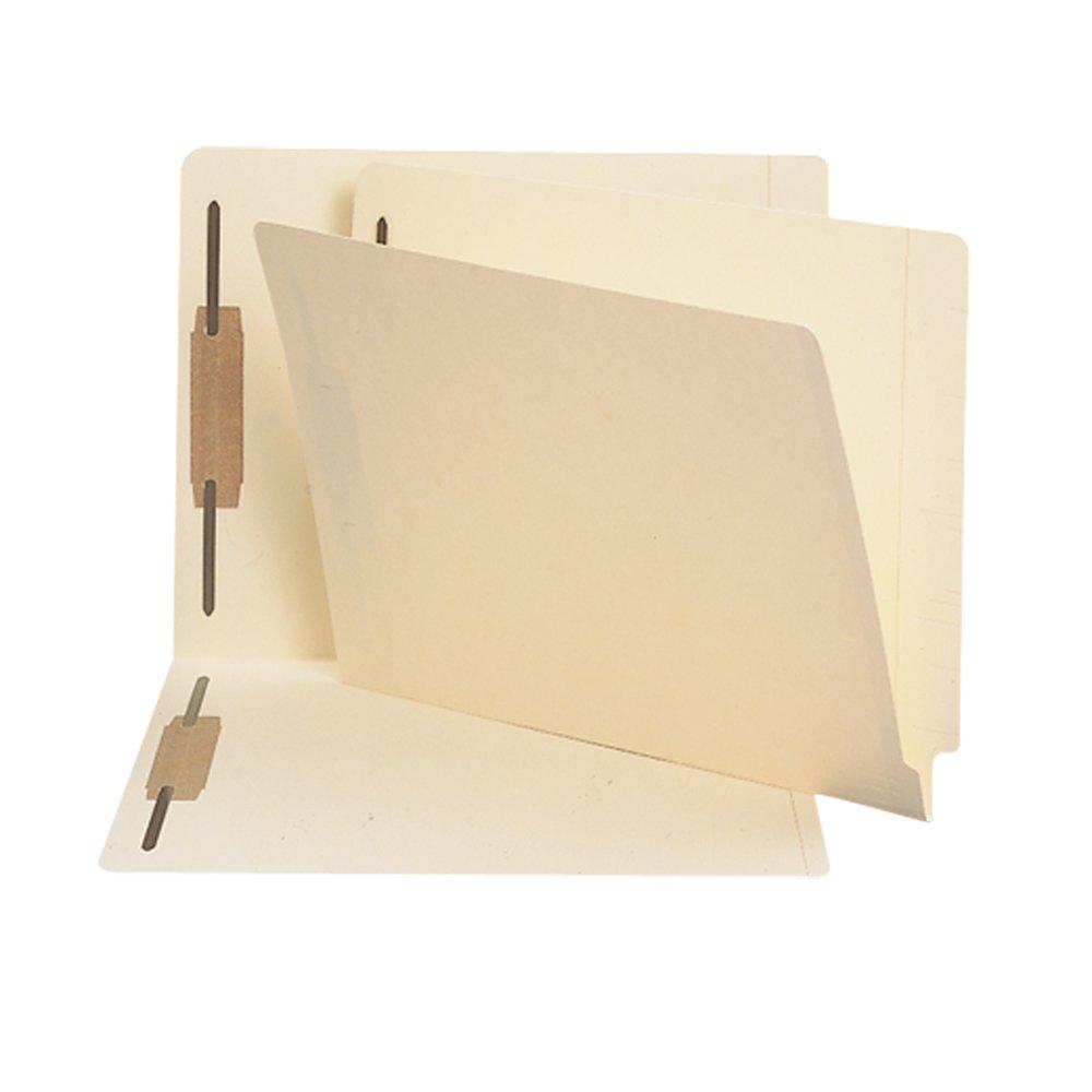 Smead End Tab Fastener File Folder, Straight-Cut Tab, 2 Fasteners, Letter, Manila, 50 Per Box (24600) Smead CA