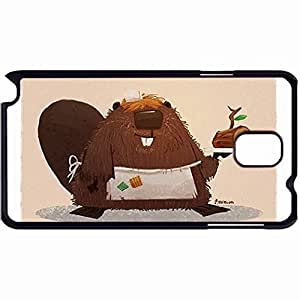 New Style Customized Back Cover Case For Samsung Galaxy Note 3 Hardshell Case, Back Cover Design Beaver Personalized Unique Case For Samsung Note 3
