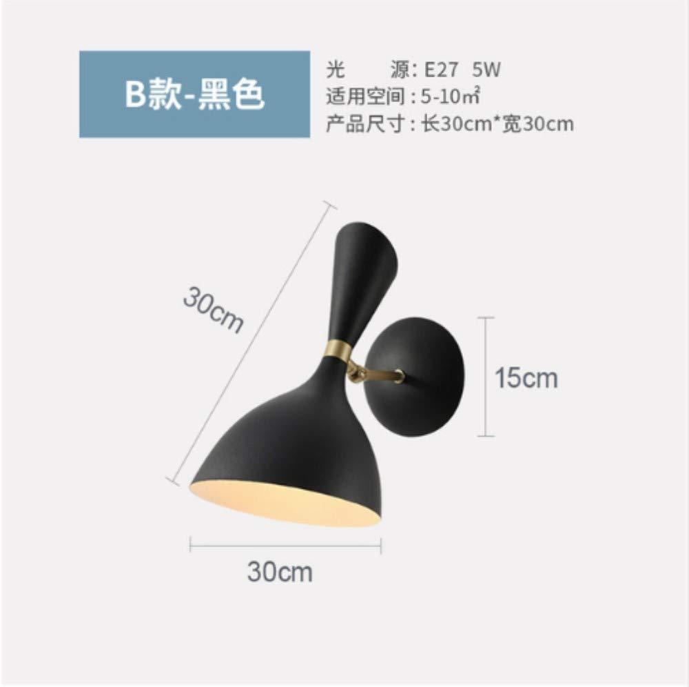 Industrielle Wandleuchte Schwarz Nachttischlampe Loft Bett Badezimmerspiegel Licht B07Q72XPNY | Speichern