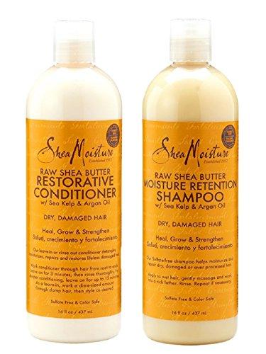 Shea Moisture Raw Shea Butter Shampoo & Conditioner Set-16oz